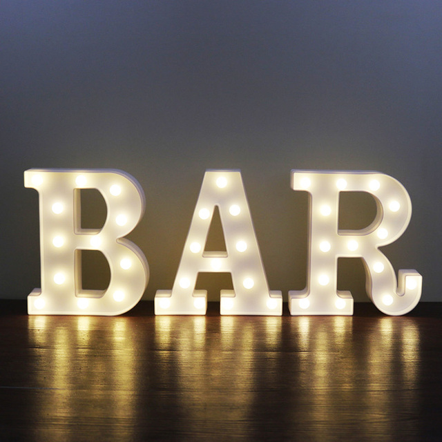 New letters white led night light kids marquee white letter bar new letters white led night light kids marquee white letter bar light vintage style plastic holiday mozeypictures Images