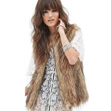 Plus Size Faux Fur Vest XXXL Sleeveless Women's Winter Coat Fake Fox Fur Vest Waistcoat Colete Female Jacket Veste Femme 2016