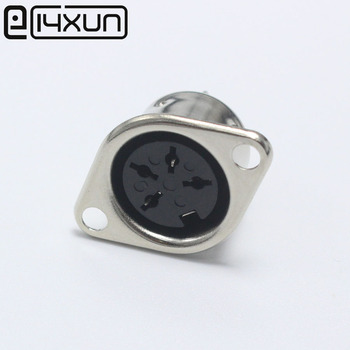 EClyxun 10 Uds 4 PIN DIN conector Jack hembra DIN adaptador de Cable 4 Pin Jack macho DIN montaje en Panel Tipo De Soldadura mujer DIN chasis