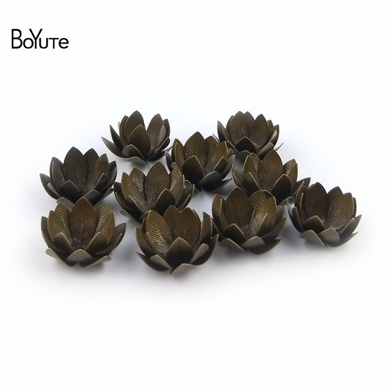 BoYuTe (10 PiecesLot) 26MM Silver Gold Bronze Metal Brass Filigree Flower Decoration (3)