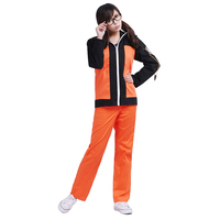 Brdwn Naruto Cosplay Naruto Uzumaki Costume 2nd Generation Suit Unisex Casual Wear Coat Jacket Hoodie Tops Pants