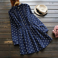 Japanese Women's Cute Chest Fold Flower Print Vintage Print Slim Waist Lacing Long Sleeve Kawaii Female Dress Mori Girl U559