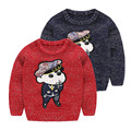Детская Одежда Новый 2016 Осень Зима Дети Мальчики Свитер Шаблон Вязание Свитера для Мальчика Детская Одежда CA026