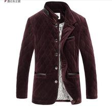 Free shipping In the spring autumn winter mulberry silk leisure men's clothing of plus-size pleuche cotton-padded jacket / M-5XL