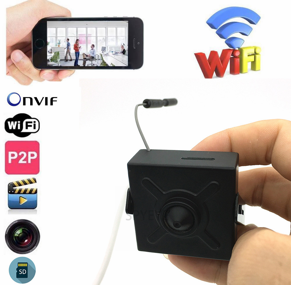 Small Size 40*40mm 2.0Megapixel 1080P Full HD P2P Onvif  SD Card Slot Wifi Wireless Mini IP Camera With Rest &Soft AntennaSmall Size 40*40mm 2.0Megapixel 1080P Full HD P2P Onvif  SD Card Slot Wifi Wireless Mini IP Camera With Rest &Soft Antenna