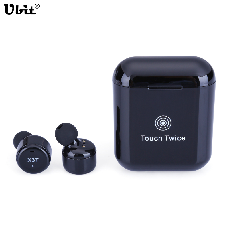 Ubit TWS X3T Waterproof Wireless Bluetooth 4.2 Headset Earphone wtih Charger Box Bass X1t X2T Upgraded for iPhone Android new dacom carkit mini bluetooth headset wireless earphone mic with usb car charger for iphone airpods android huawei smartphone