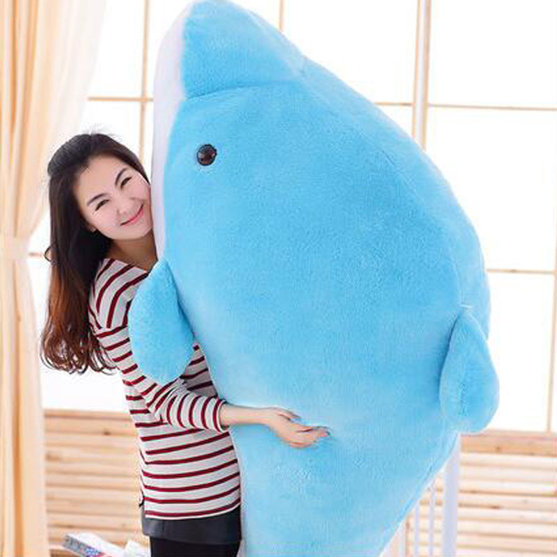 200CM Dolphin High Quality Lovely Oversized Dolphin Doll Cushion Pillow Doll Stuffed Plush Toy Doll For Birthday Christmas Gift lovely plush toy the dolphin toy stuffed dolphin pillow huge birthday gift toy about 200cm dolpin
