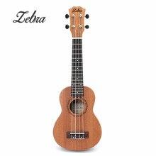 21 inch 15 Frets Mahogany Soprano Ukulele Electric Bass Guitar Uke Sapele Rosewood 4 Strings Hawaiian Guitar for Beginners