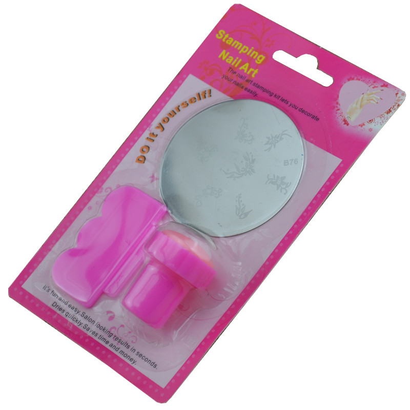 LCJ New DIY Nail Art Stamping Set Stamping Nail Art Kit Nail Stamps + Scrapers+Image Plate Retails + Free Shipping