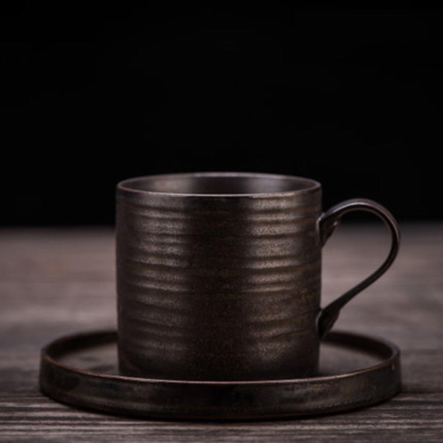 Tasse à café en céramique porcelaine soucoupe Vintage chinois vaisselle thé Cappuccino tasses porcelaine assiettes Caneca outil ménager 50N50257