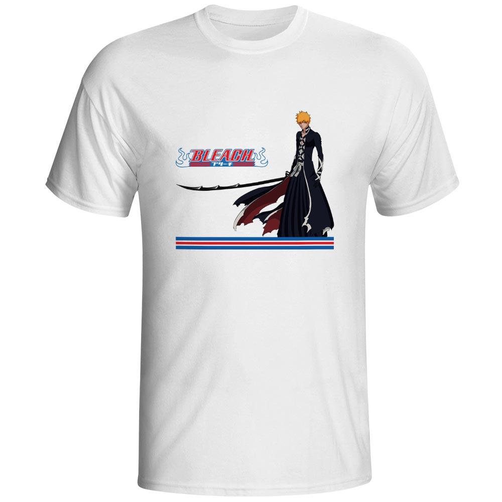 Bleach Mask T Shirt Kurosaki Ichigo Fashion Brand Casual T shirt Creative Pop Rock Unisex Tee in T Shirts from Men 39 s Clothing