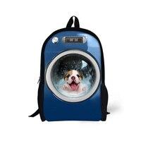 2016 Children School Backpack Animal Pug Dog Printing Girls Bagpack Mochila Animal Cat Cute Kids Casual