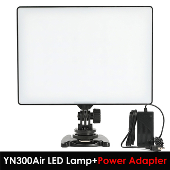 YONGNUO YN300 YN-300 Air LED Camera Video Light 3200K-5500K with AC Power Adapter for Canon Nikon Camera DSLR & Camcorder