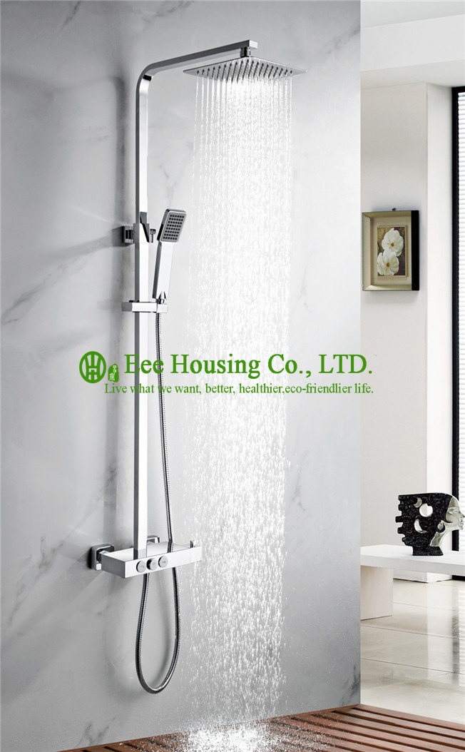 Thermostatic Shower Set Free Shipping Brass 38 Degree Shower Mixer,chrome Finished,shower System,bathroom Accessories