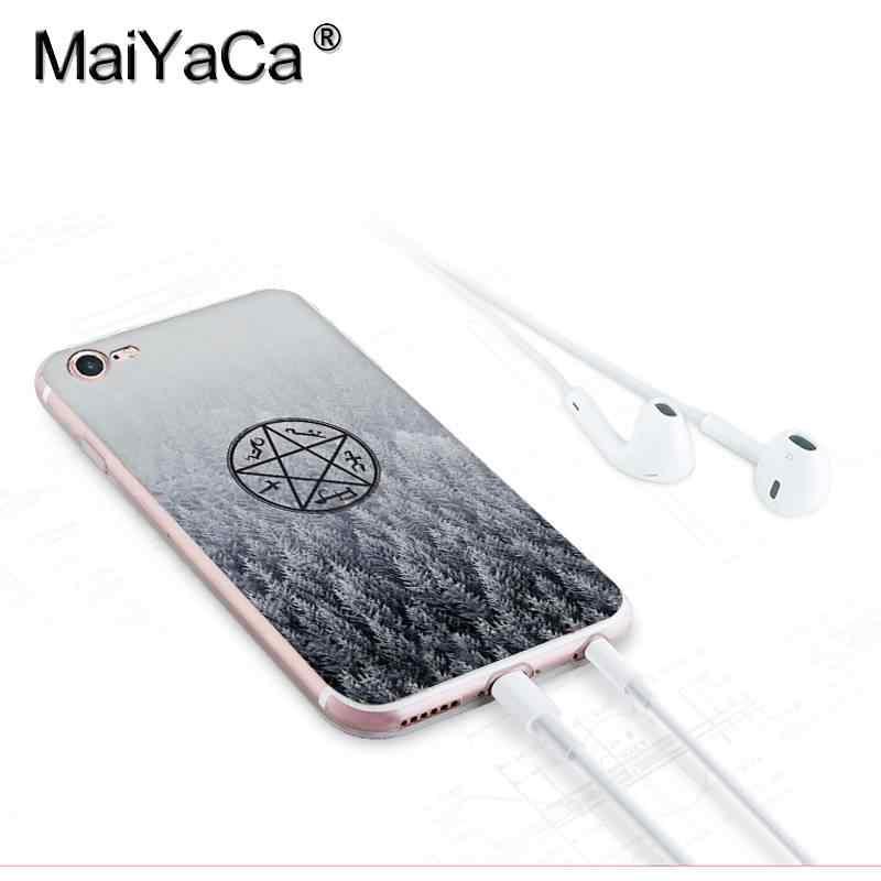 MaiYaCa สำหรับ iphone 7 X กรณี TV Play แผ่นใบอนุญาต Supernatural Coque โทรศัพท์ Shell สำหรับ iphone 8 7 6 6S Plus X XS XR XSMAX