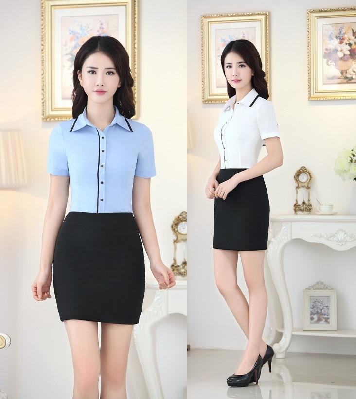 Mujer trajes formales con falda y Tops blusas camisas moda