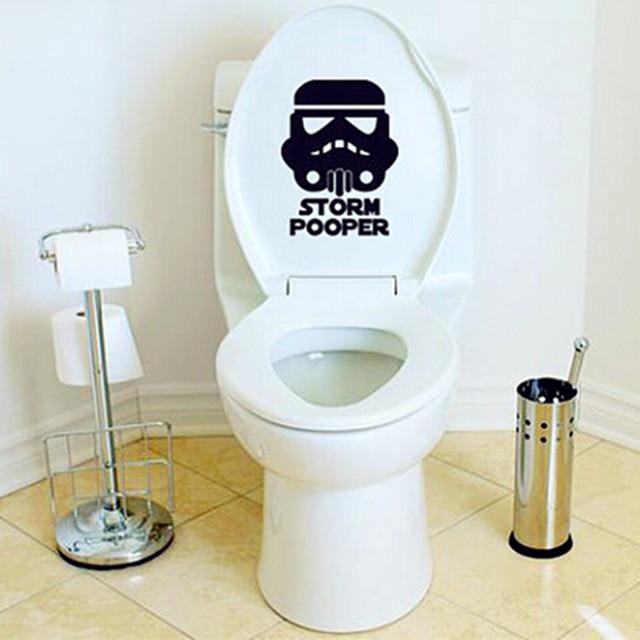 storm trooper auf pooper wc sitz aufkleber star wars lustige badezimmer aufkleber label in storm. Black Bedroom Furniture Sets. Home Design Ideas