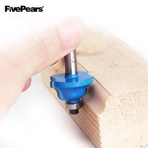 Image 5 - FIVEPEARS 1/4 cala 12 sztuk zestaw wierteł frezarskich profesjonalny chwyt wolframu frez węglikowy zestaw do wycinania z drewnianym schowkiem