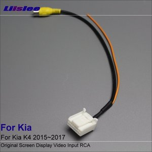 Liislee For Kia K4 2015~2017 Rear View Camera RCA Adapter Connector Convertor Wire Cable Original Video Input Switch