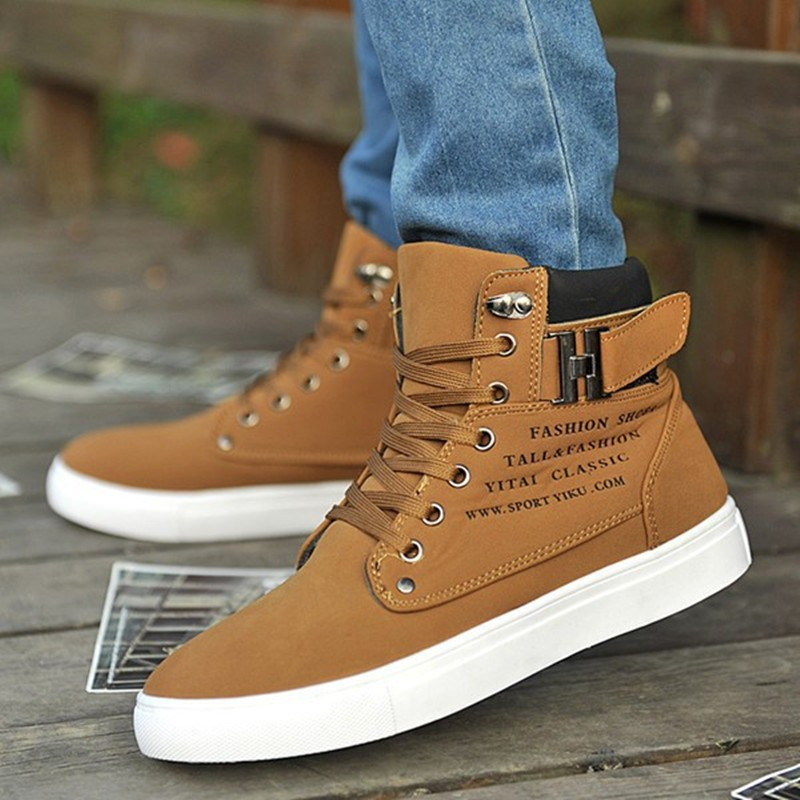 af29a9b8fb Men Shoes Sapatos Winter Tenis Masculino Male Fashion Trainers Men Flats  Casual Canvas Shoe Men High Top Footwear Zapatos Hombre-in Men s Casual  Shoes from ...