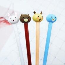 4 pcs/lot cute cartoon forest animals Gel Pen kawaii stationery School Supplies Office Cute writting pens paperlaria
