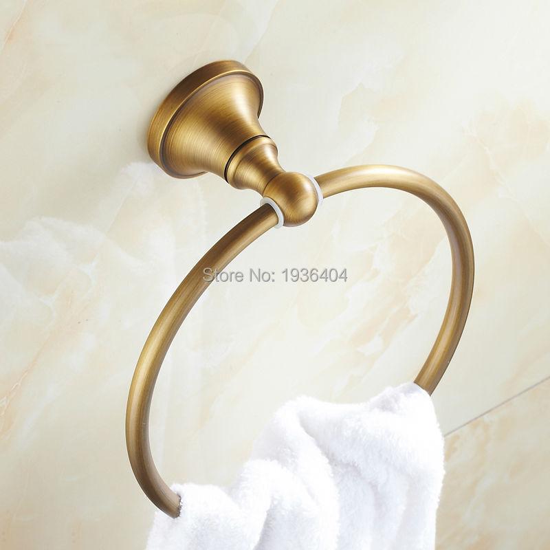 Hot Sell Bathroom Accessories Towel Ring Antique Brass Towel Holder  Wall Mounted Towel Rack R515 veronese статуэтка материнская любовь