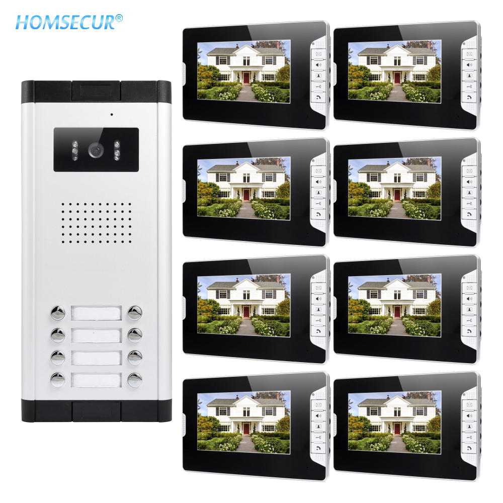 HOMSECUR 7 Wired Video Door Intercom System with LCD Color Screen for House/Flat XM703-B + XC061-8HOMSECUR 7 Wired Video Door Intercom System with LCD Color Screen for House/Flat XM703-B + XC061-8