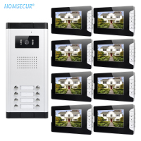 HOMSECUR 7 Wired Video Door Intercom System with LCD Color Screen for House/Flat XM703 B + XC061 8