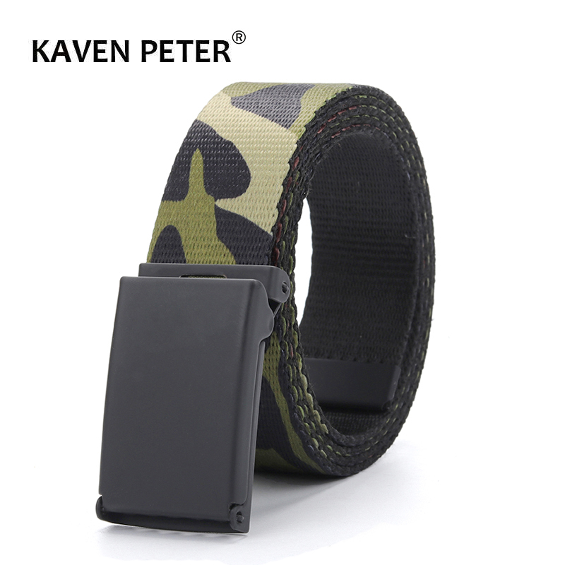 Army Camouflage   Belt   For Men Tactical Military Canvas   Belt   Men Outdoor Army Practical Camouflage Waistband 3.0 CM   Belt   Width