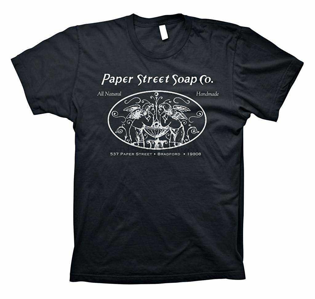 ShirtInvaders กระดาษ Street บริษัทสบู่ธรรมชาติ Hand Made - Tyler Durden เสื้อยืดฤดูร้อนแขนสั้นผ้าฝ้ายเสื้อ T