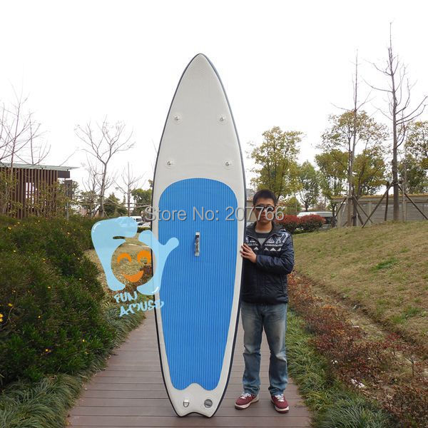 9.5ft(290cm ) Inflatable Surfboards SUP Paddle Board EVA Deck 76cm Wide 10cm Thick  Load 115kgs