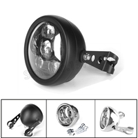 5.75 Inch Motorcycle Round LED Headlight Housing Bucket Shell For Harley Yamaha Honda Suzuki Headlamp Bracket Accessories
