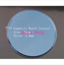 Envío gratis 1 unid 36 mm 1.0 mm grueso grueso Flat zafiro vidrio de reloj Crystal para reparación de relojes para relojeros