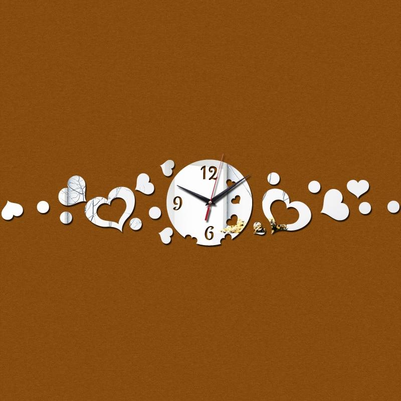 2015 promoção nova chegada 3d espelho acrílico relógio de quartzo relógio de parede limitada decoração art seguro frete grátis