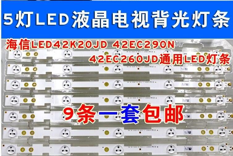 1 Led 3v Fine 9pcs/lot 39 Led Strip Sw 39 3228 05 Rev1.1 120814 5 Leds 420mm