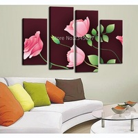 Modern Wall Art Pink Rose Decorative Pictures High Definition Print On Canvas Waterproof Wall Pictures Spray