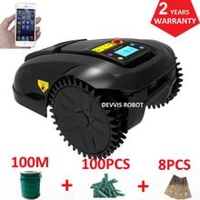 Smartphone APP Contorl Gyroscope Cheap Robot Automatic Grass Cutter Robot Mower With 4.4AH Li-ion Battery