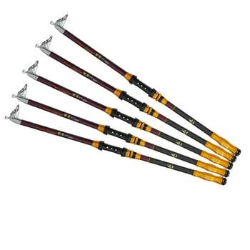 New Telescopic Carbon Fishing Rod Surf Spinning Rod 3.0M Fishing Tackle Casting Sea Carp Fishing Spinning Rod