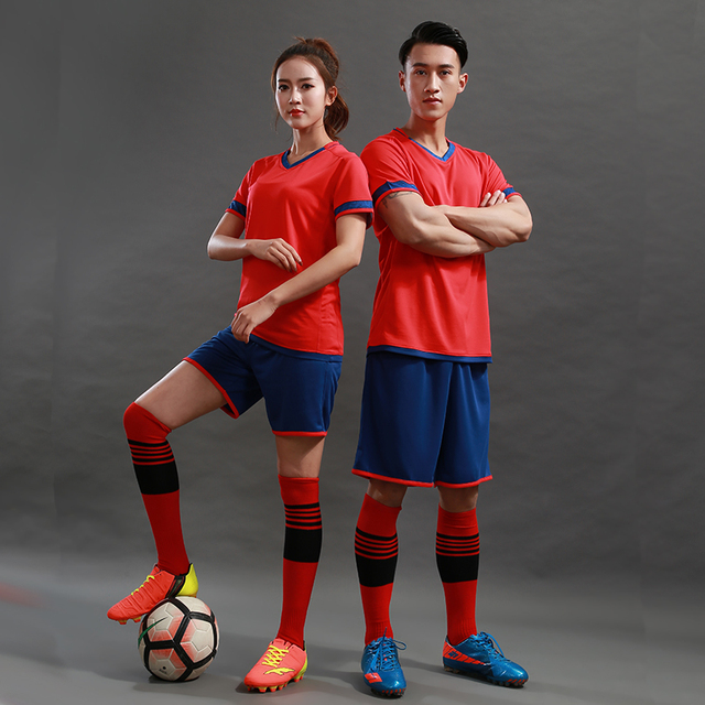 7f2eb687e Kids Men 2018 2019 Women Soccer Jerseys Set Blank Sports Football Training  Uniforms Suit Pockets Team Soccer Jerseys Sets Custom