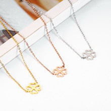 women pendant necklace clover best friends pendant necklace accessories jewellery stainless steel jewelry(China)