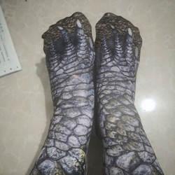 1 пара эластичных мягких носков унисекс дышащие носки с 3D принтом коготь для ног с животными FDC99