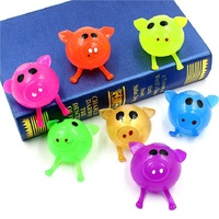 12pcs Decompression Pig Splat Ball Vent Toy Smash Various Styles Pig Toys Slime Gadget Funny Toys Christmas Gifts