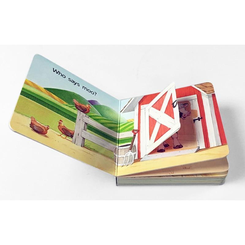 Libros de los niños abierta la puerta del granero encontrar una vaca ...