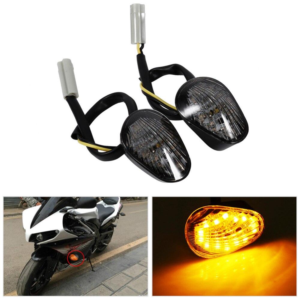 2 stücke Universal Motorrad LED Blinker Licht Wasserdichte Bernstein Led Anzeige Blinker Flash Fahrrad Lampe Für Yamaha YZF R1 r6 R6S
