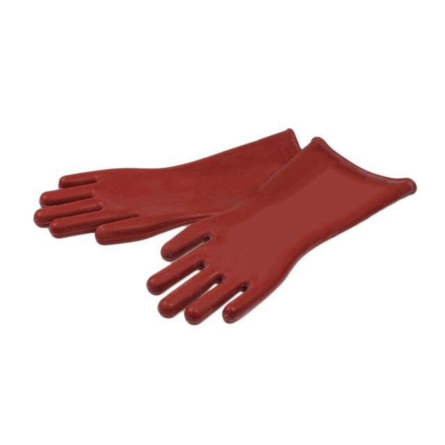 1 Пара Изоляционные Перчатки Профессиональный кв Высокого Напряжения Электрические Защитные Безопасности Безопасно Резиновые Перчатки Рабочие Перчатки Безопасности