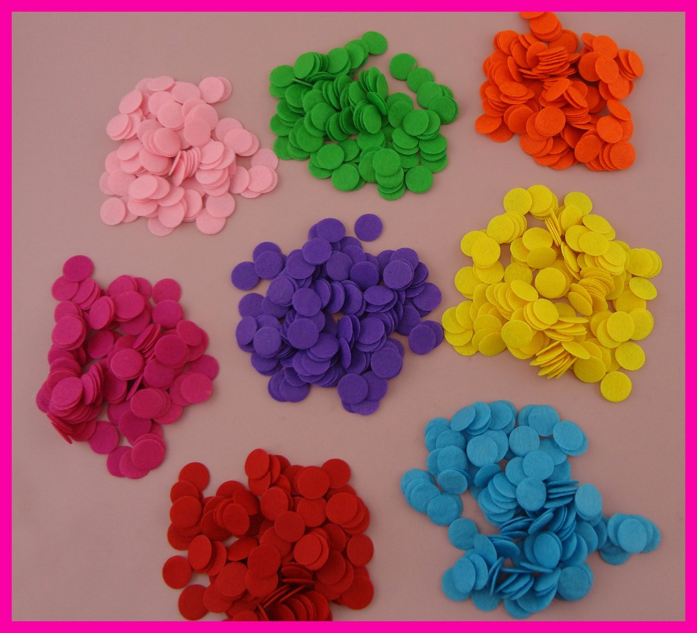 1000PCS 1.5cm Assorted Colors Round felt pads appliques for DIY Hairbands accessories,15mm non-woven circles patches
