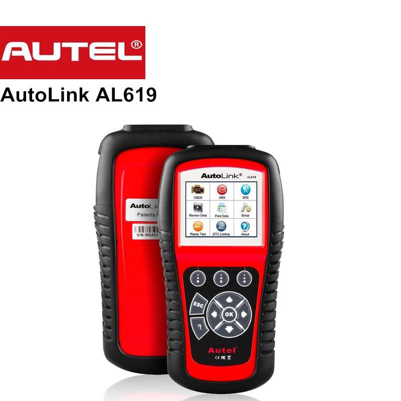 Nouveau Autel Autolink AL619 ABS/SRS + PEUT OBD2 Outil D'analyse mise à jour En Ligne Autel AL619 OBDII Scanner Voiture Lecteur de Code Scanner automobile