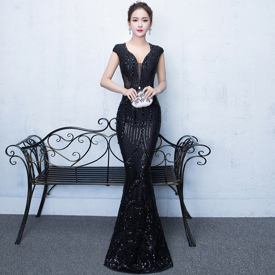 a129e808185 bleu 2018 Femmes Plus Sirène Bal Noir De Robes Élégante Longue D été Sexy  rouge Boho ...