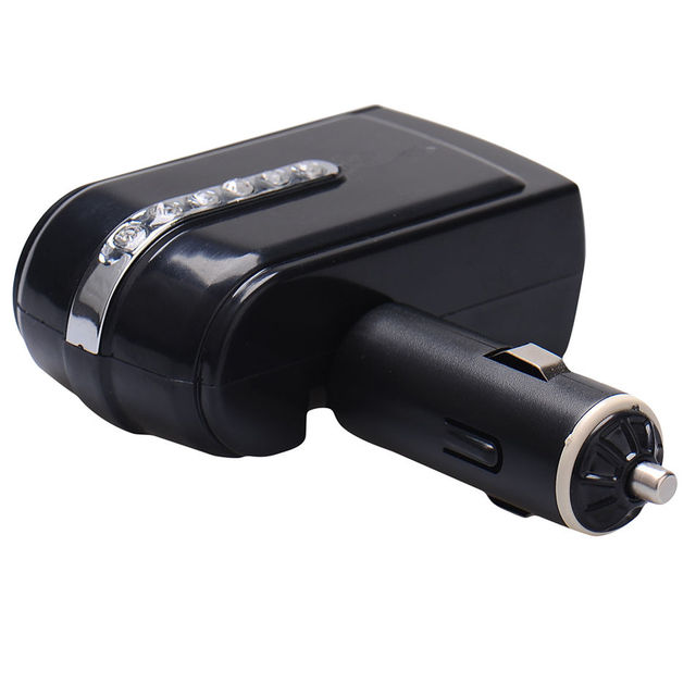 New 1 USB Port 2 Two Way Car Cigarette Lighter Socket Splitter Adjustable Adapter Black Car Accessories