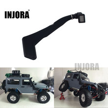 INJORA 1:10 RC Crawler Black Soft Rubber Snorkel for Axial SCX10 D90 Jeep Wrangler Body Shell(China)